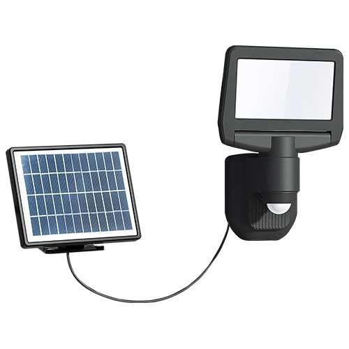 Projecteur solaire LED à détection 15W 1000lm 4000K noir