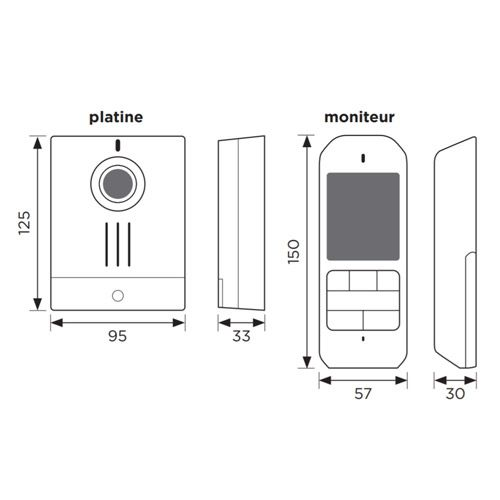 AIPHONE Kit carillon sans fil 100M DECT audio/vidéo 2.4
