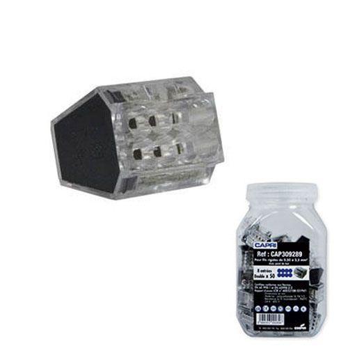 CAPRI 50 bornes automatiques connexion rapide 8 entrées 8x2.5² noir