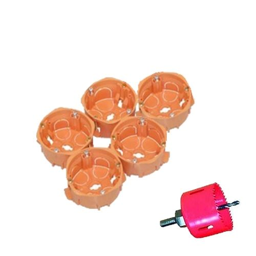 Capri lot de 5 boîtes d'encastrement pour cloison sèche avec scie cloche