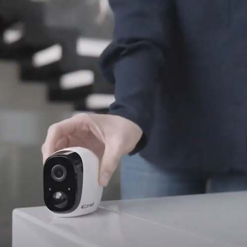 Caméra connectée COMELIT extérieure et intérieure - WICAM020A
