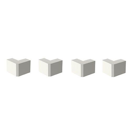 GGK Angles extérieurs blanc  pour moulure électrique 22x12mm - lot de 4