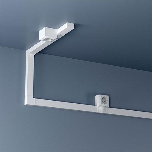 GGK Embouts de finition blanc pour moulure électrique 22x12mm blanc - lot de 4