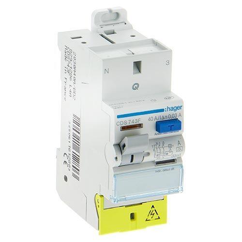 HAGER Interrupteur différentiel  40A 30mA type A AUTO