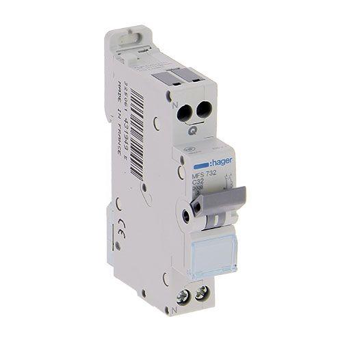 HAGER Disjoncteur connexion AUTO Phase Neutre 32A