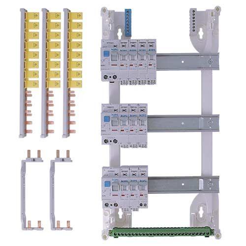 Tableau électrique pré équipé auto IKEPE 3 rangées 3ID 40A 10 disjoncteurs