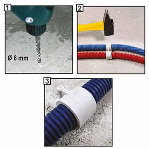 ING FIXATIONS Fix-ring Fixation D16 pour gaine ICTA  - Boite de 100