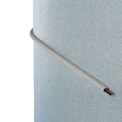 INOFIX Cablefix Gaine adhésive 8 x 7 mm - Gris métallisé