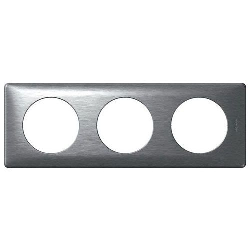 LEGRAND Céliane Plaque - Anodisé - 3 postes Aluminium