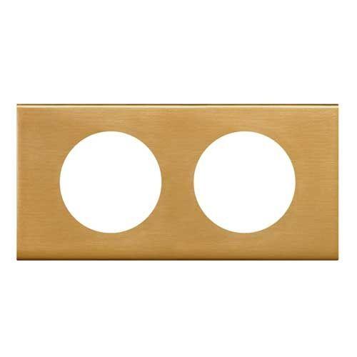 LEGRAND Céliane Plaque Matières 2 postes Bronze doré - 069132