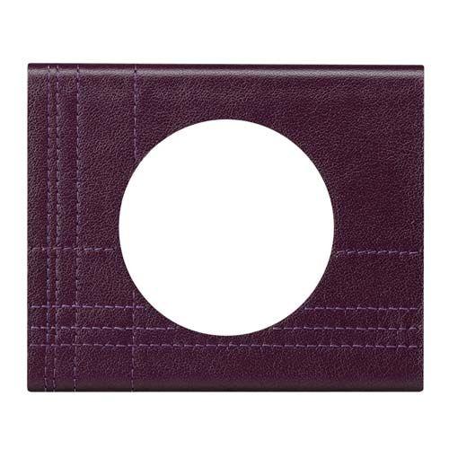 LEGRAND Céliane Plaque Matières 1 poste Cuir pourpre couture - 069441