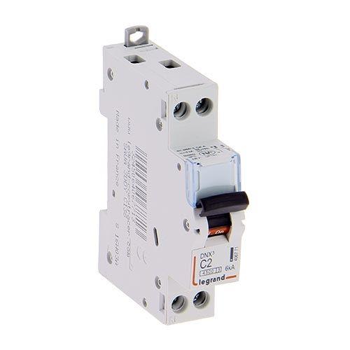 LEGRAND Disjoncteur électrique 2A DNX3 Uni + neutre