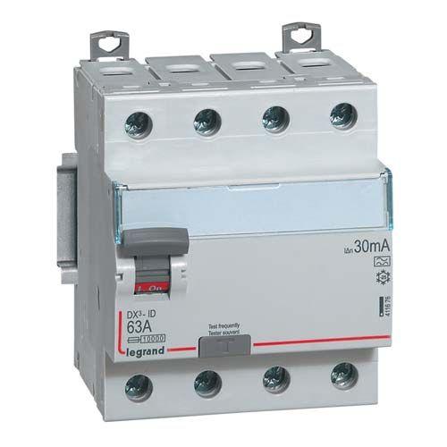 LEGRAND DX3 Interrupteur différentiel 4P 63A Type A 30mA - 411676