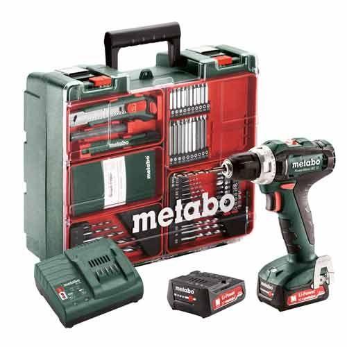 METABO Perceuse visseuse sans fil 12V 2x2Ah LiHD + 64 accessoires - 601036870