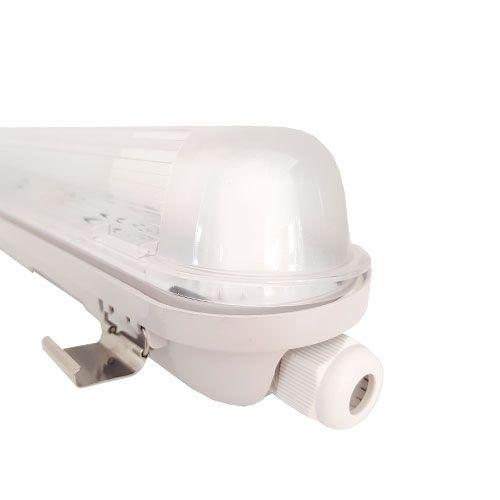 Réglette LED étanche 1 tube LED 230V 9W 1000lm 60cm grise
