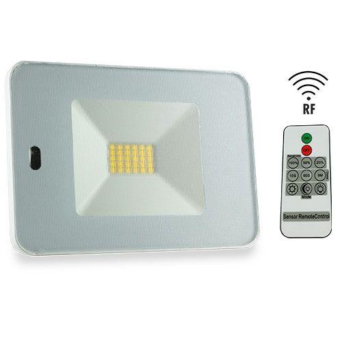 Projecteur extérieur LED extra plat à détection radio avec télécommande 230V 30W 2550lm 4000°K blanc