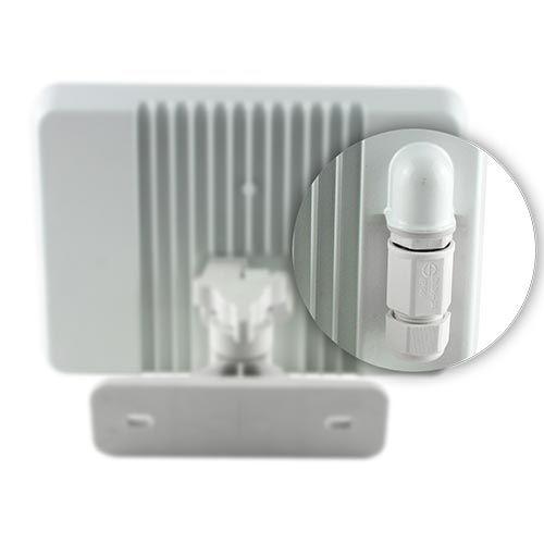 Projecteur extérieur LED extra plat à détection radio 230V 30W 2550lm 4000°K blanc avec télécommande
