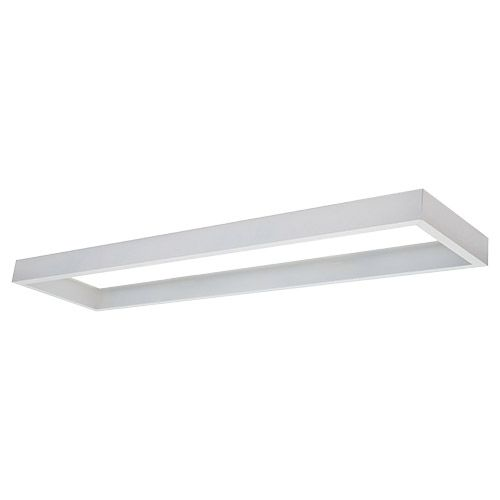 Cadre saillie pour dalle LED 1200x300mm blanc