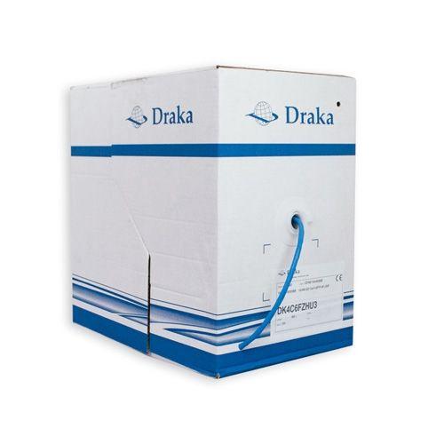 DRAKA Câble informatique 4P catégorie 6 U/FTP 250Mhz - Box de 305m