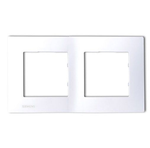 SIEMENS Delta Viva Plaque double blanc