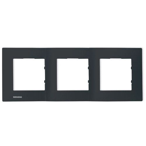 SIEMENS Delta Viva Plaque triple - Anthracite