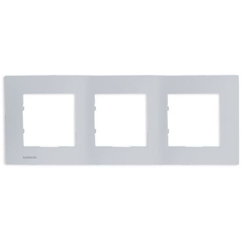 SIEMENS Delta Viva Plaque triple - Silver