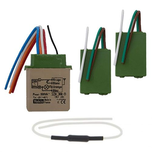 YOKIS Power Kit radio va et vient 2 émetteurs radio et 1 télévariateur - KITRADIOVARVVP