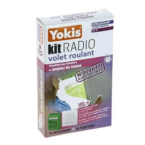 YOKIS Power Kit radio volet roulant 1 micro-module volet roulant et 1 télécommande - KITRADIOVRP