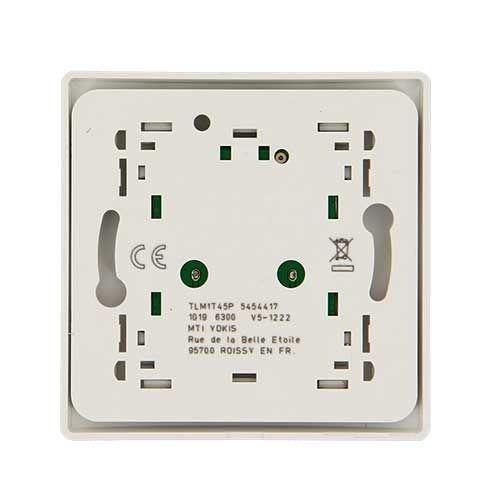 Télécommande murale YOKIS Power 1 touche 45x45 - TLM1T45P