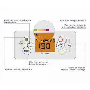 Radiateur connecté inertie réfractite - Thermostat