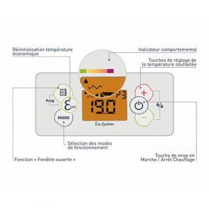 Thermostat - Radiateur connecté inertie réfractite 1000W CHAUFELEC Manon - BJN2333SEHS