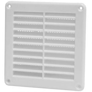 DMO S Grille PVC encastrable carrée àmoustiquaire 125x125 blanc