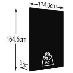 DUALSUN Flash panneau solaire monocristallin 375Wc noir - Dimension Format