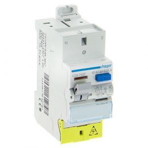HAGER Interrupteur différentiel bornes auto 40A 30mA type AC