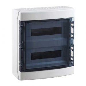 IDE Tableau électrique étanche 2 rangées de 18 modules