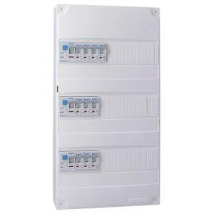 IKEPE Tableau électrique pré équipé auto 3 rangées 3ID 40A 10 disjoncteurs