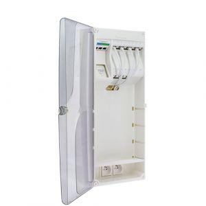 IKEPE Coffret de communication Grade 2TV - 12RJ45 avec DTIO et emplacement box