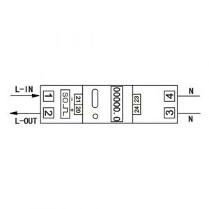 KETLER Compteur d'energie monophasé 80A à écran LCD
