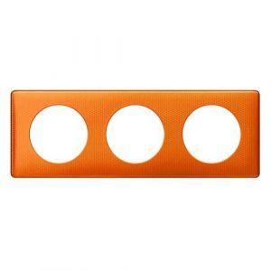 LEGRAND Céliane Plaque Métal 3 postes Orange snake - 068763