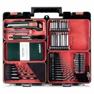 Perceuse visseuse METABO sans fil 12V 2x2Ah LiHD + 64 accessoires - 601036870