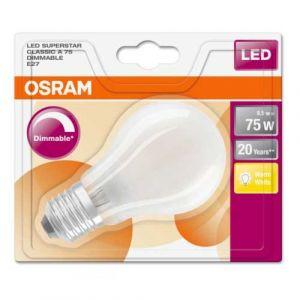 OSRAM Ampoule LED en verre dépoli 8,5W 1055lm dimmable standard E27 230V