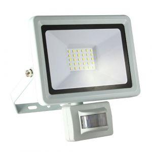 Projecteur extérieur LED extra plat à détection 230V 30W 2700lm 4000°K blanc