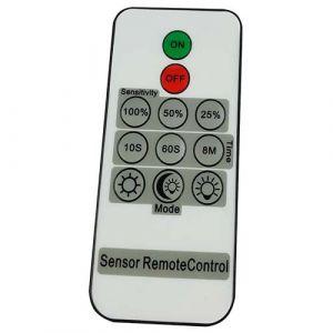 Projecteur extérieur LED extra plat  230V 30W 2550lm 4000°K blancà détection radio avec télécommande