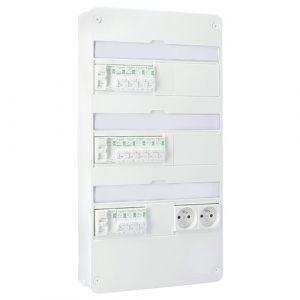 SCHNEIDER RESI9 XP Tableau électrique pré-équipé 3 rangées 3ID 63A 12 disjoncteurs