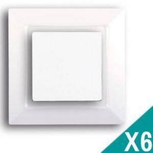 SIEMENS Delta One Lot de 6 interrupteurs va et vient complet - Blanc