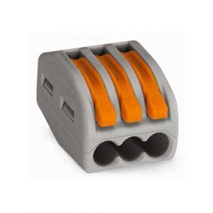 WAGO 15 bornes automatiques fils souples et rigides 3x2.5² S222