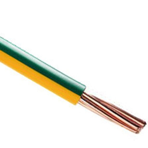 Fil électrique rigide HO7VR 16² vert / jaune au mètre