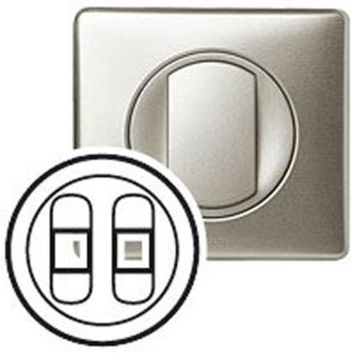 enjoliveur prise haut parleur legrand c liane double titane 068512. Black Bedroom Furniture Sets. Home Design Ideas