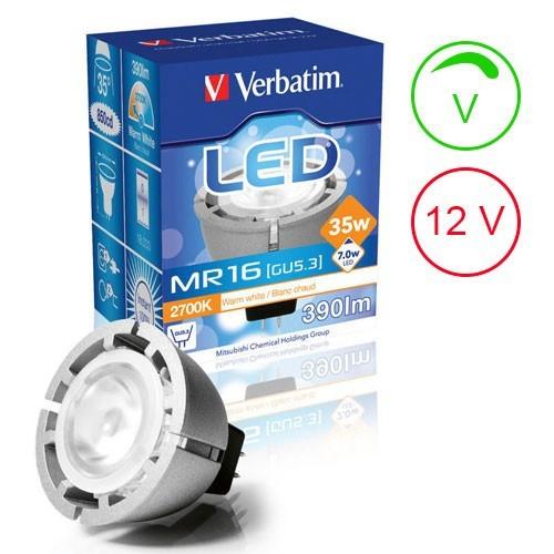 VERBATIM Ampoule LED GU5.3 7W 390lm 12V Intensité variable