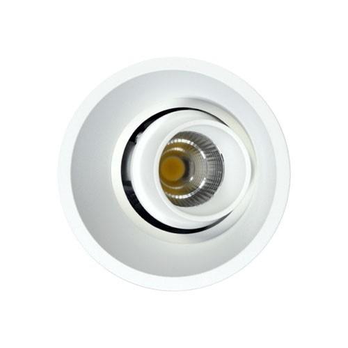 Spot LED encastrable et orientable Tao 10W 675lm 3000°K blanc BENEITO FAURE